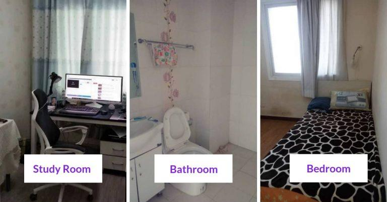 esl teacher apartment in China - bathroom