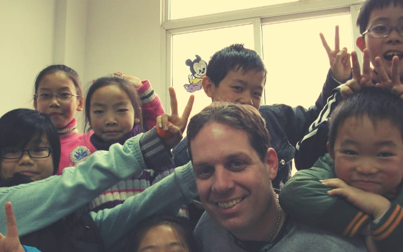 One of my first classes in China