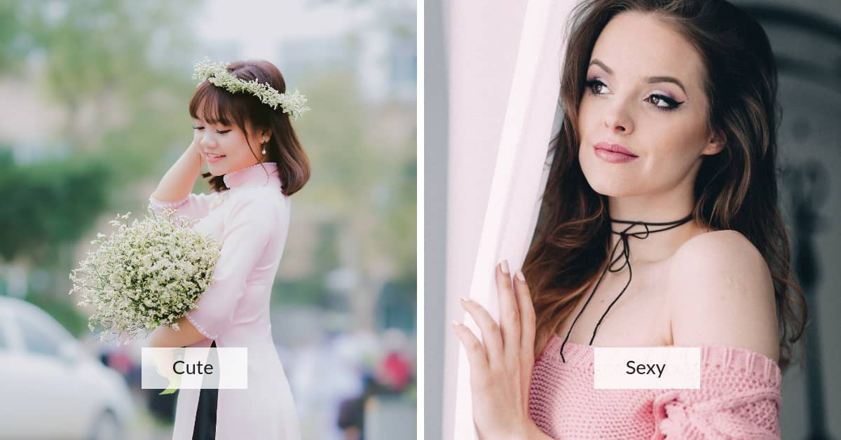 beauty standards in China vs Western: cute-vs-sexy