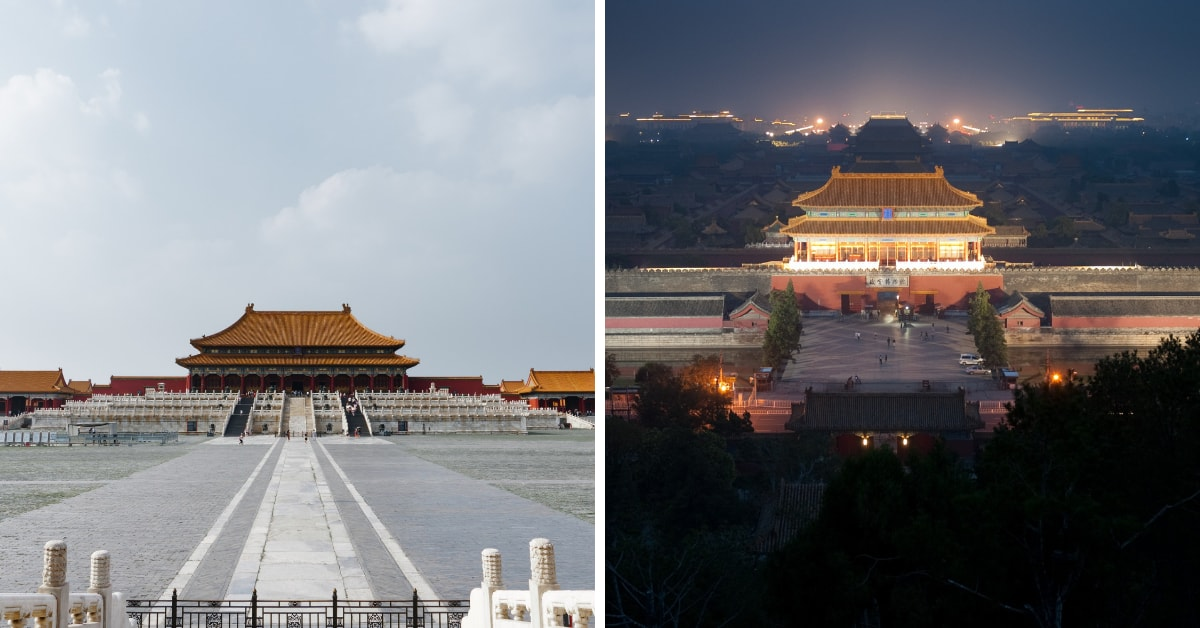 Beijing daytime and nighttime 1