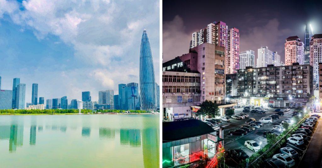Shenzhen vs Beijing, Beijing vs Shenzhe, shenzhen-day-and-nigtht