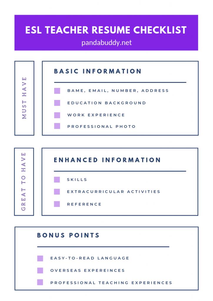 ESL-Teacher-Resume-Checklist