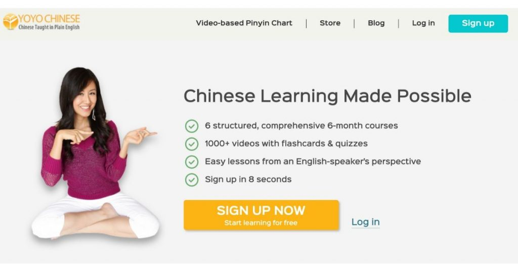 online chinese course - yoyo chinese