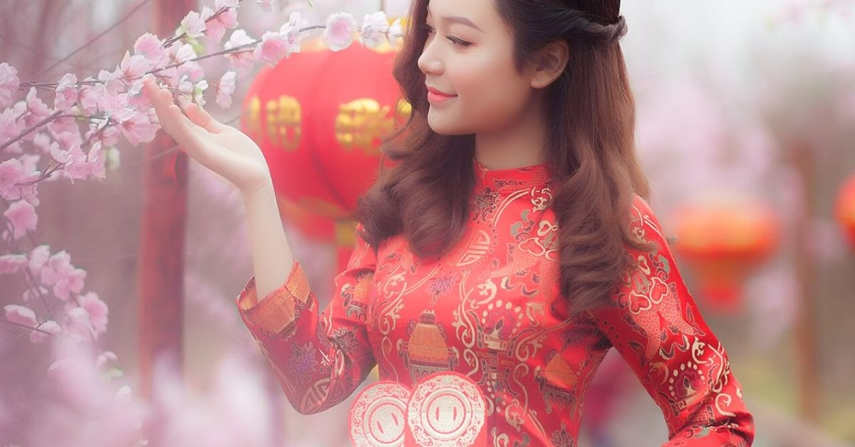 Chinese Customs wearing red during the chinese new year