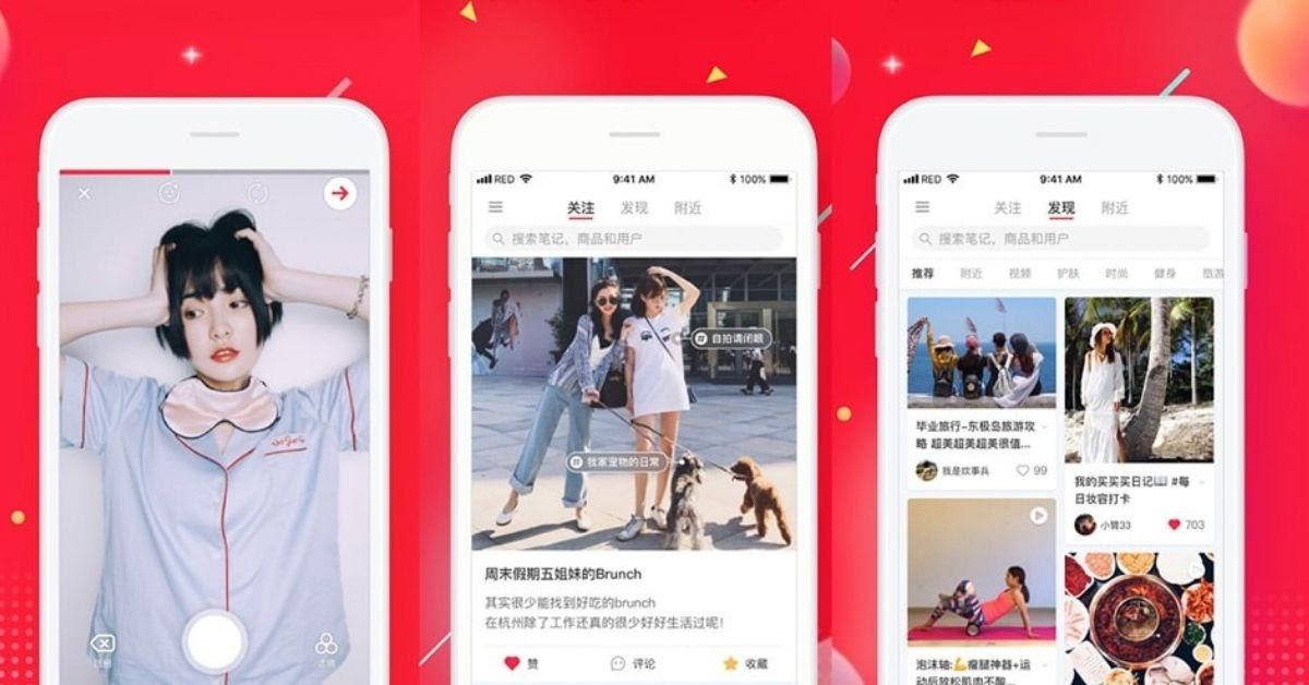 Chinese social media social media in China xiaohongshu